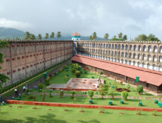 cellular jail top view